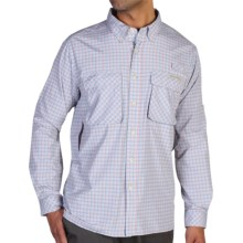 ExOfficio Air Strip Micro Plaid Shirt - UPF 30+, Long Sleeve (For Men) in Alert - Closeouts