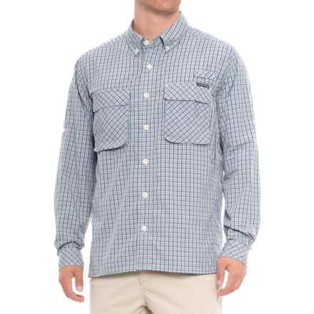 ExOfficio Air Strip Micro Plaid Shirt - UPF 30+, Long Sleeve (For Men) in Blue Lead - Closeouts