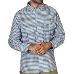 ExOfficio Air Strip Micro Plaid Shirt - UPF 30+, Long Sleeve (For Men) in Light Lapis