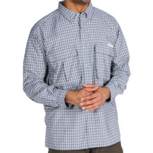 ExOfficio Air Strip Micro Plaid Shirt - UPF 30+, Long Sleeve (For Men) in Marine - Closeouts