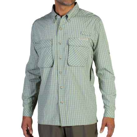 ExOfficio Air Strip Micro Plaid Shirt - UPF 30+, Long Sleeve (For Men) in Olive - Closeouts