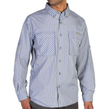 ExOfficio Air Strip Micro Plaid Shirt - UPF 30+, Long Sleeve (For Men) in Voltage - Closeouts