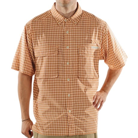 ExOfficio Air Strip Shirt - Short Sleeve (For Men) in Copper