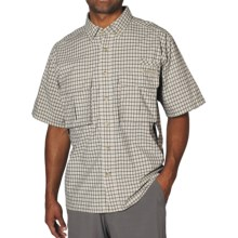 ExOfficio Air Strip Shirt - Short Sleeve (For Men) in Light Khaki - Closeouts