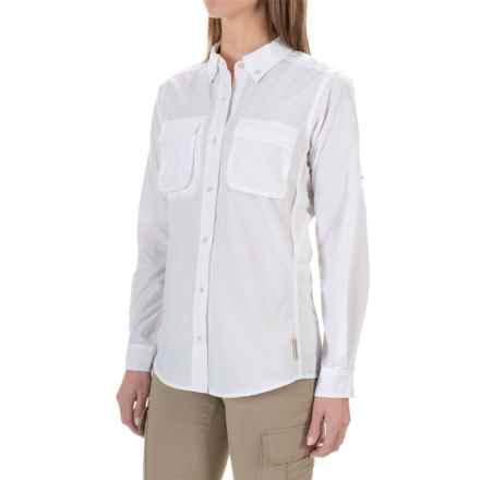 ExOfficio Air Strip Shirt - UPF 30, Long Sleeve (For Women) in White - Closeouts