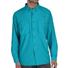 ExOfficio Air Strip Shirt - UPF 30+, Long Sleeve (For Men) in Chlorine - Closeouts
