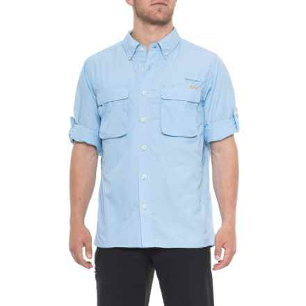 ExOfficio Air Strip Shirt - UPF 30+, Long Sleeve (For Men) in Light Lapis - Closeouts