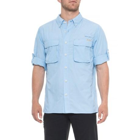 ExOfficio Air Strip Shirt - UPF 30+, Long Sleeve (For Men) in Light Lapis