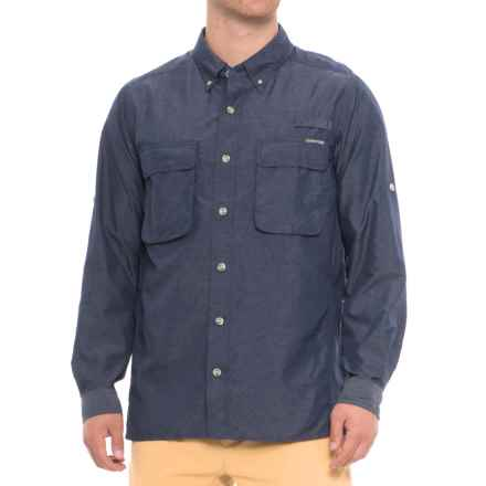 ExOfficio Air Strip Shirt - UPF 30+, Long Sleeve (For Men) in Navy - Closeouts