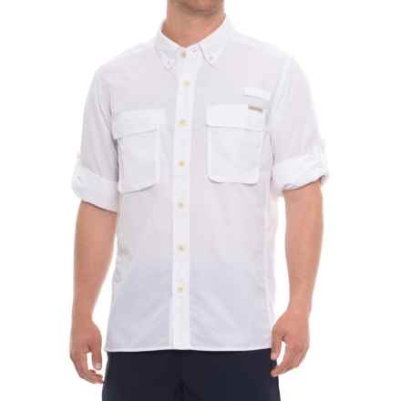 ExOfficio Air Strip Shirt - UPF 30+, Long Sleeve (For Men) in White - Closeouts