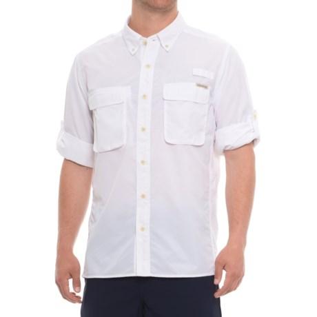 ExOfficio Air Strip Shirt - UPF 30+, Long Sleeve (For Men) in White