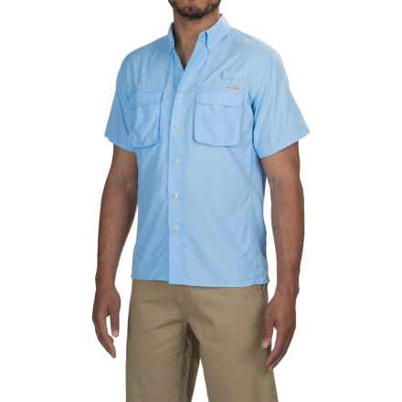 ExOfficio Air Strip Shirt - UPF 30+, Short Sleeve (For Men) in Light Lapis - Closeouts