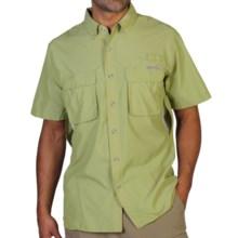 ExOfficio Air Strip Shirt - UPF 30+, Short Sleeve (For Men) in Pistachio - Closeouts
