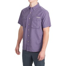ExOfficio Air Strip Shirt - UPF 40+, Short Sleeve (For Men) in Blueberry - Closeouts