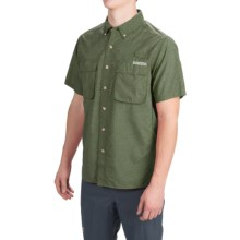 ExOfficio Air Strip Shirt - UPF 40+, Short Sleeve (For Men) in Dark Cypress - Closeouts