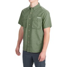 ExOfficio Air Strip Shirt - UPF 40+, Short Sleeve (For Men) in Dark Olive - Closeouts