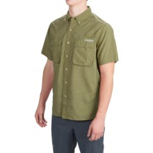 ExOfficio Air Strip Shirt - UPF 40+, Short Sleeve (For Men) in Kelp - Closeouts