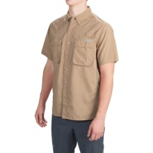 ExOfficio Air Strip Shirt - UPF 40+, Short Sleeve (For Men) in Khaki - Closeouts