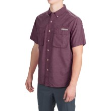 ExOfficio Air Strip Shirt - UPF 40+, Short Sleeve (For Men) in Merlot - Closeouts