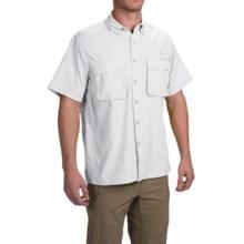 ExOfficio Air Strip Shirt - UPF 40+, Short Sleeve (For Men) in White - Closeouts