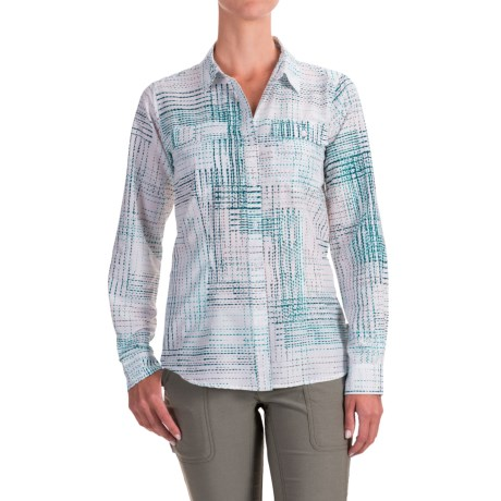 ExOfficio Airhart Shirt - UPF 50+, Long Sleeve (For Women) in Dragonfly