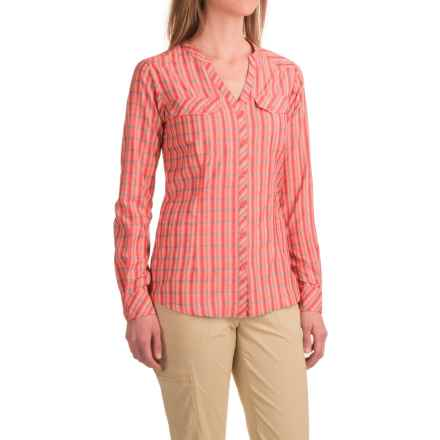 ExOfficio Airhart Shirt - UPF 50+, Long Sleeve (For Women) in Hot Coral - Closeouts
