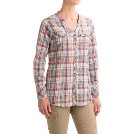 ExOfficio Airhart Shirt - UPF 50+, Long Sleeve (For Women) in Marina - Closeouts
