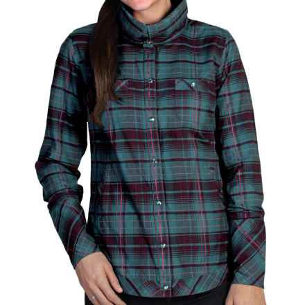 ExOfficio Alba Plaid Shirt - Long Sleeve (For Women) in Aquatic - Closeouts