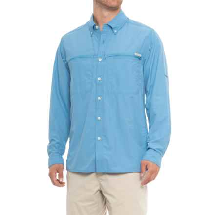 ExOfficio Atoll Shirt - UPF 30, Long Sleeve (For Men) in Silverlake - Closeouts