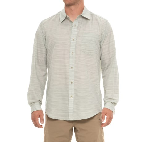 ExOfficio Avalon Shirt - Long Sleeve (For Men) in Sage Gray