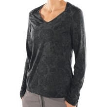 ExOfficio Aza Burnout Shirt - Long Sleeve (For Women) in Black - Closeouts