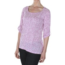 ExOfficio Aza Dri-Release® Shirt - Scoop Neck, 3/4 Sleeve (For Women) in Raspberry Heather - Closeouts