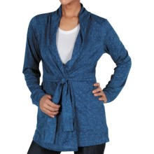 ExOfficio aZa Wrap Cardigan Sweater - Dri-Release®, FreshGuard® (For Women) in Ensign - Closeouts