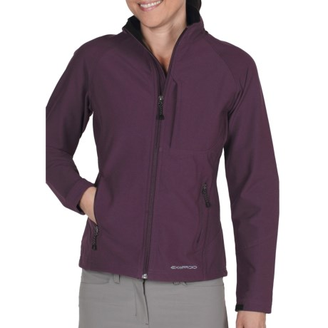 ExOfficio Boracade Soft Shell Jacket (For Women) in Dark Thistle