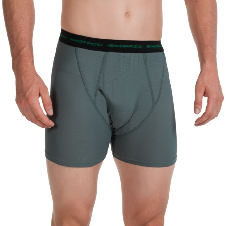 ExOfficio Boxer Briefs - Underwear (For Men) in Charcoal