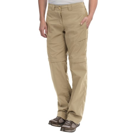 ExOfficio Bugaway Ziwa Nycott Pants - Convertible, Insect Shield® (For Women) in Light Khaki