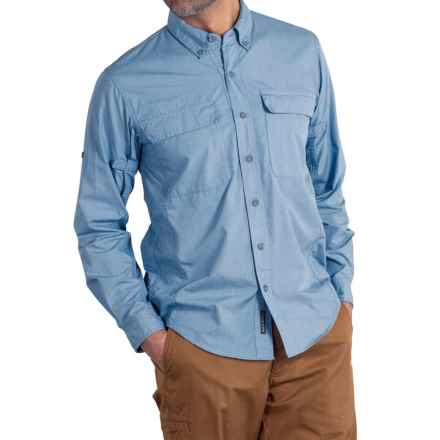 ExOfficio BugsAway® Baja Sur Shirt - UPF 30, Long Sleeve (For Men) in Riviera - Closeouts