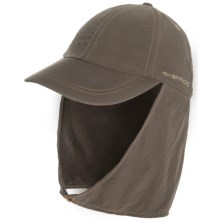 ExOfficio BugsAway® Cape Hat - UPF 30+ (For Men and Women) in Cigar/Brown - Closeouts