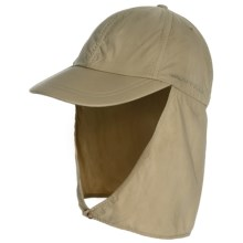 ExOfficio BugsAway® Cape Hat - UPF 30+ (For Men and Women) in Light Khaki/Walnut - Closeouts