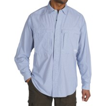 ExOfficio BugsAway® Halo Check Shirt - UPF 30+, Long Sleeve (For Men) in Cobalt - Closeouts