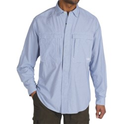 ExOfficio BugsAway® Halo Check Shirt - UPF 30+, Long Sleeve (For Men) in Light Aloe