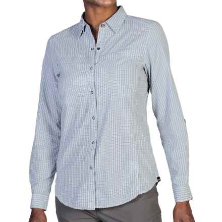ExOfficio BugsAway® Halo Check Shirt - UPF 30+, Long Sleeve (For Women) in Evening - Closeouts