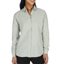 ExOfficio Bugsaway Halo Check Shirt - UPF 30+, Long Sleeve (For Women) in Light Aloe - Closeouts