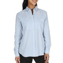 ExOfficio Bugsaway Halo Check Shirt - UPF 30+, Long Sleeve (For Women) in Light Lapis - Closeouts