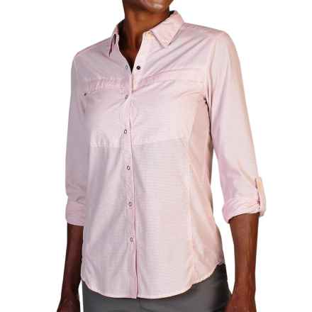 ExOfficio BugsAway® Halo Check Shirt - UPF 30+, Long Sleeve (For Women) in Oyster - Closeouts