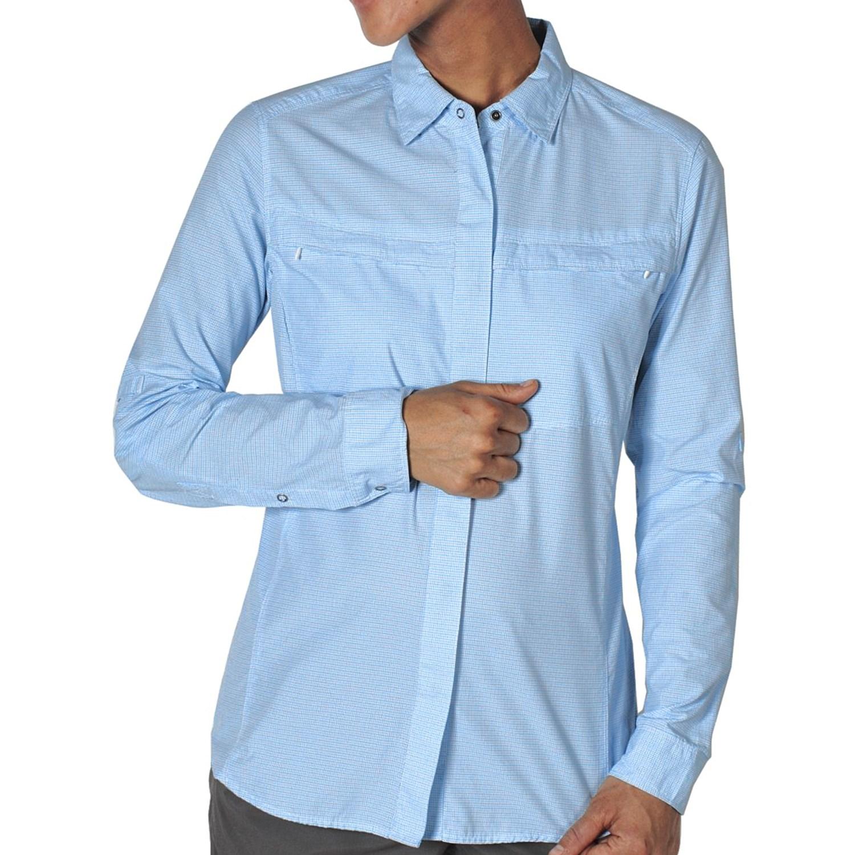 exofficio bugsaway halo check shirt upf 30 long sleeve