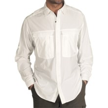 ExOfficio BugsAway® Halo Shirt - UPF 30+, Long Sleeve (For Men) in White - Closeouts