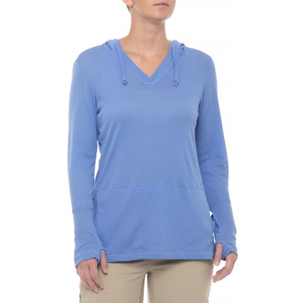 a537002e66 ExOfficio BugsAway® Lumen Hoodie - Long Sleeve (For Women) in Cornflower -  Closeouts