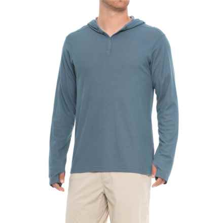 ExOfficio BugsAway® Lumos Hoodie - UPF 20 (For Men) in Indigo Wash - Closeouts