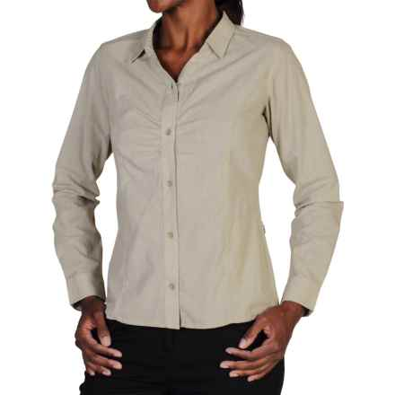 ExOfficio BugsAway® Marigold Shirt - Long Sleeve (For Women) in Light Khaki - Closeouts